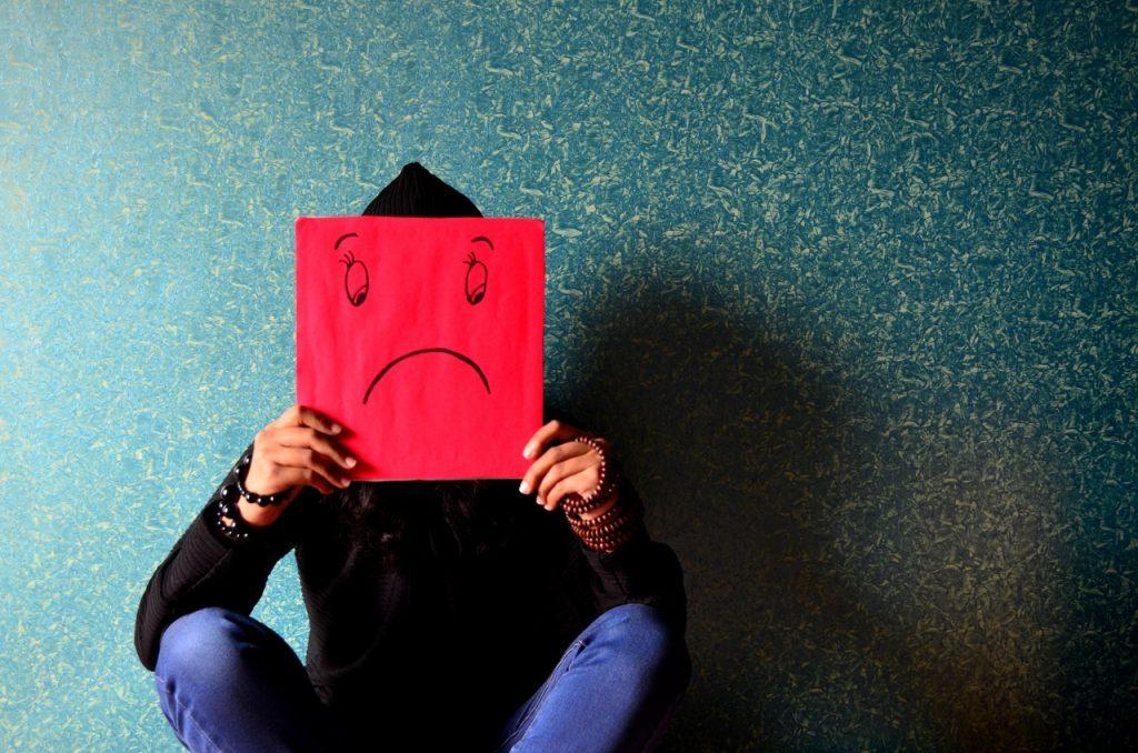 Smutny człowiek z depresją